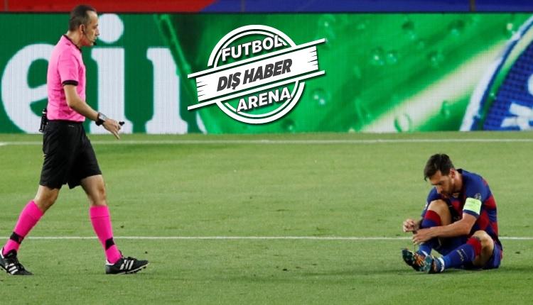 Messi'den Cüneyt Çakır'a tepki! El sıkışmayı reddetti