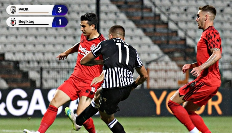 Beşiktaş'tan veda! PAOK 3-1 Beşiktaş maç özeti ve golleri (İZLE)