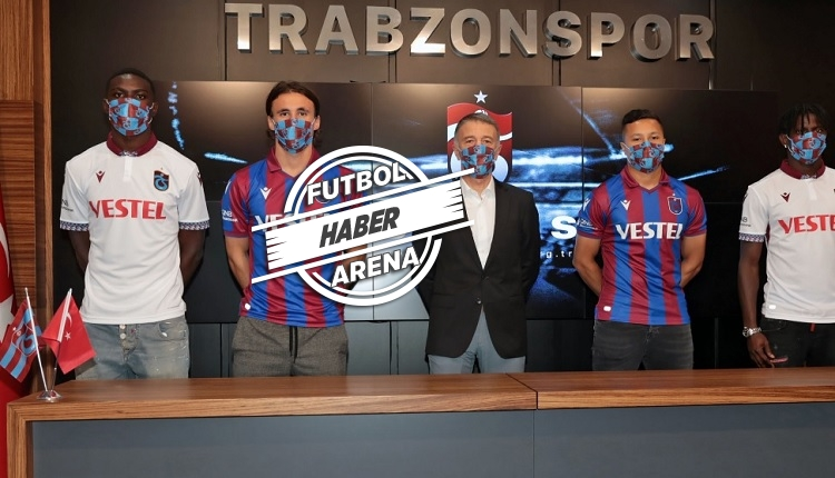Trabzonspor'da imza töreni! Trondsen, Edgar le, Xavier ve Plaza