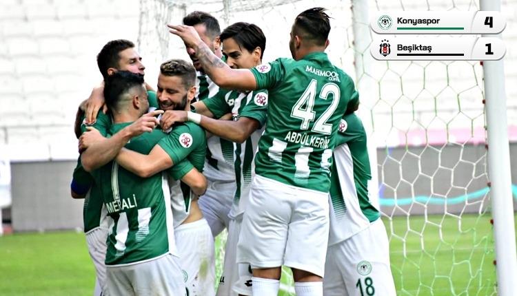 Beşiktaş kayıp! Konyaspor 4 golle kazandı (İZLE)