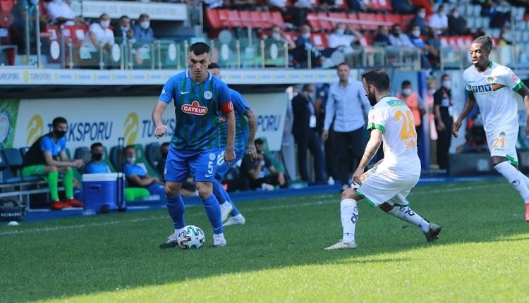 Çaykur Rizespor 1-1 Aytemiz Alanyaspor maç özeti ve golleri (İZLE)