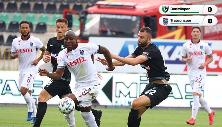 Denizlispor 0-0 Trabzonspor maç özeti (İZLE)