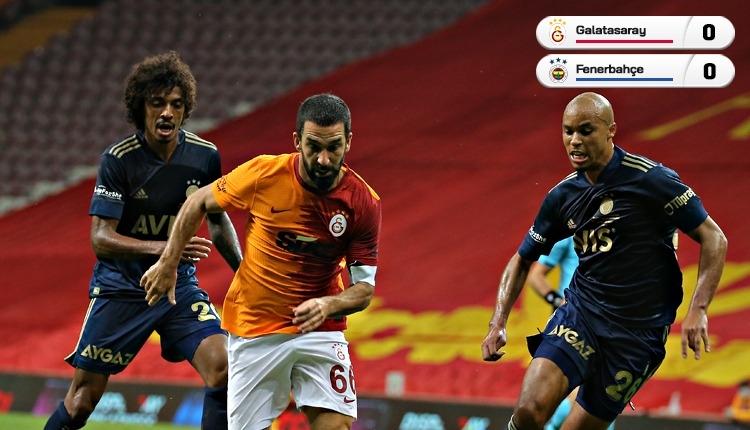Galatasaray - Fenerbahçe derbisinde gol sesi çıkmadı (İZLE)