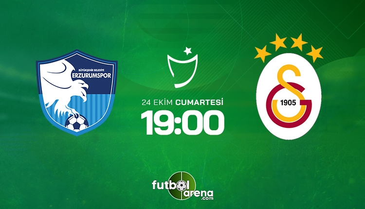 Erzurumspor - Galatasaray saat kaçta? Muhtemel 11'ler