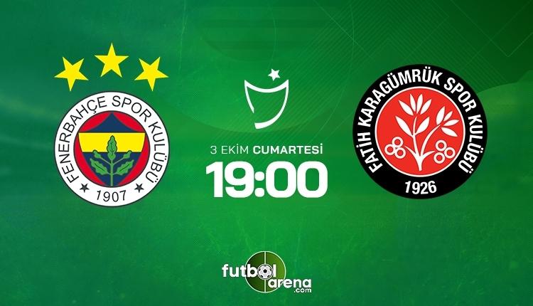 Fenerbahçe-Fatih Karagümrük canlı izle, Fenerbahçe-Fatih Karagümrük şifresiz İZLE (Fenerbahçe-Fatih Karagümrük beIN Sports canlı ve şifresiz İZLE)