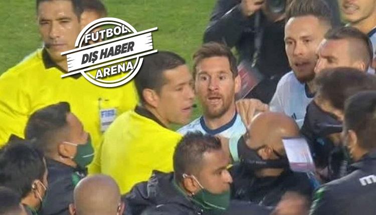Messi çileden çıktı! Bolivya - Arjantin maç sonu olay