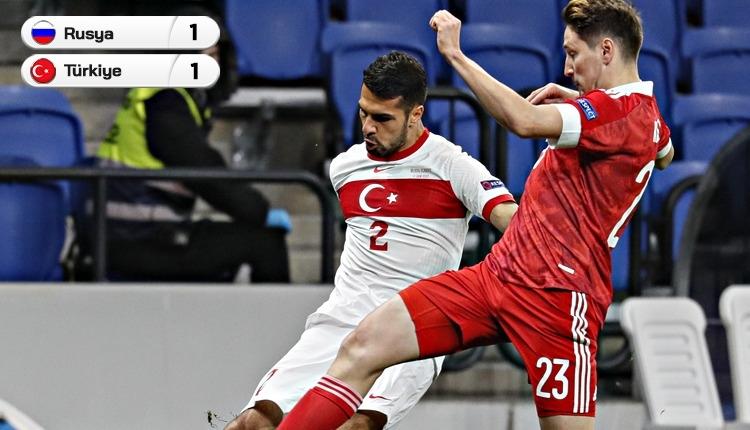 Rusya 1-1 Türkiye maç özeti ve golleri (İZLE)