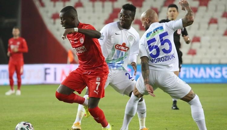 Sivasspor 0-2 Çaykur Rizespor maç özeti ve golleri izle