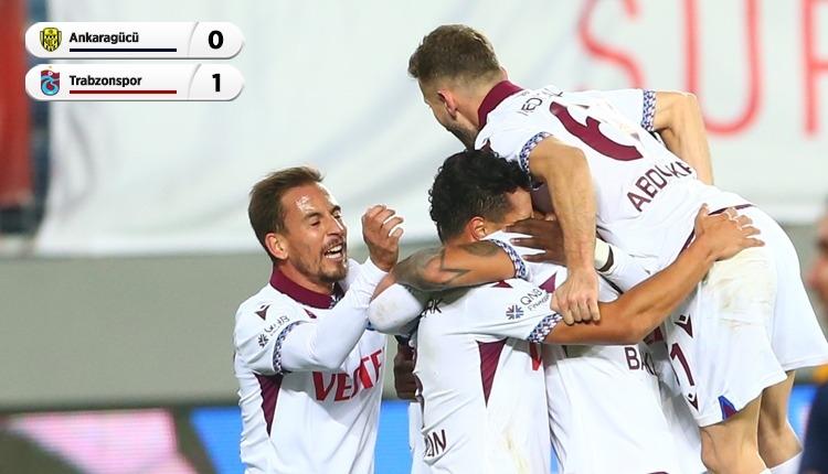 Ankaragücü 0-1 Trabzonspor maç özeti ve golü (İZLE)