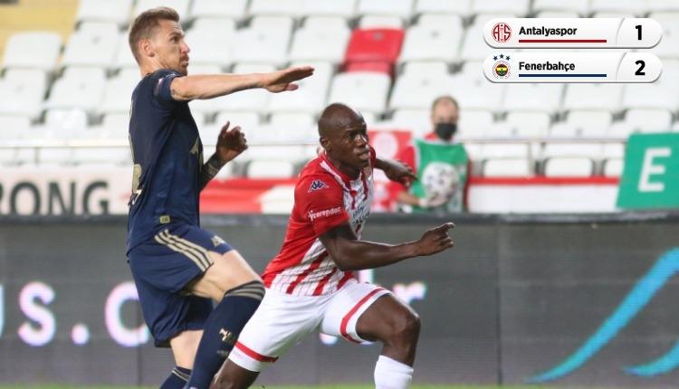 Antalyaspor 1-2 Fenerbahçe maç özeti ve golleri (İZLE)