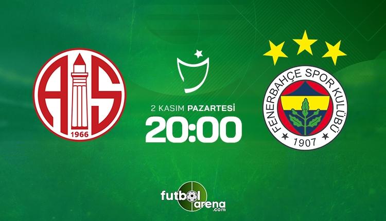 Antalyaspor - Fenerbahçe maçı ilk 11'leri