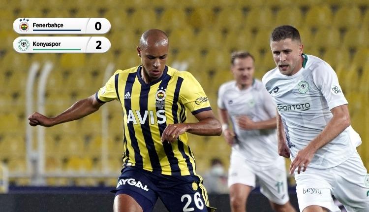 Fenerbahçe 0-2 Konyaspor maç özeti ve golleri izle