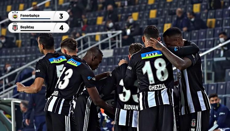Fenerbahçe 3-4 Beşiktaş maç özeti ve golleri izle