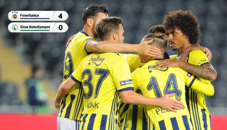 Fenerbahçe 4-0 Sivas Belediyespor maç özeti ve golleri izle