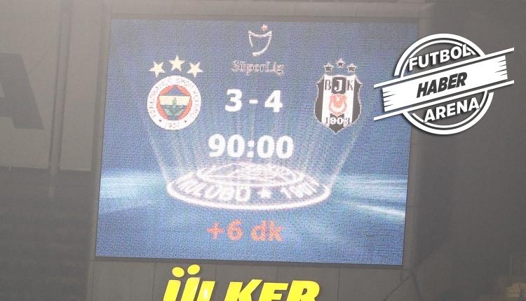 Fenerbahçe, Kadıköy'deki derbi yenilmezliklerini kaybetti