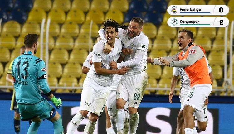 Fenerbahçe'ye Kadıköy'de soğuk duş! Konyaspor kazandı (İZLE)