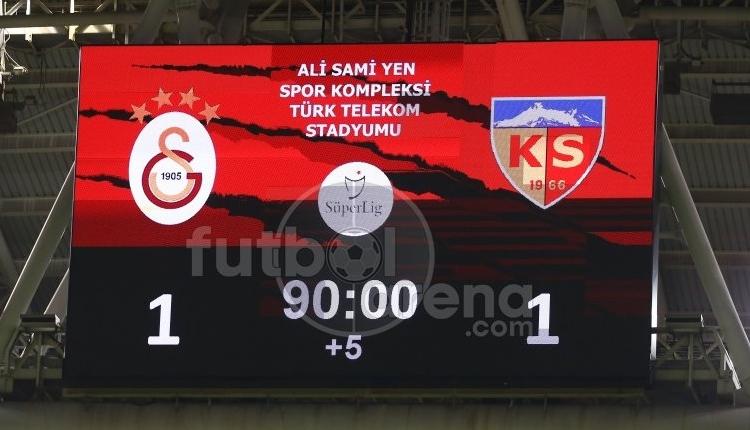 Galatasaray iç sahada 5 maçta 7 puan kaybetti