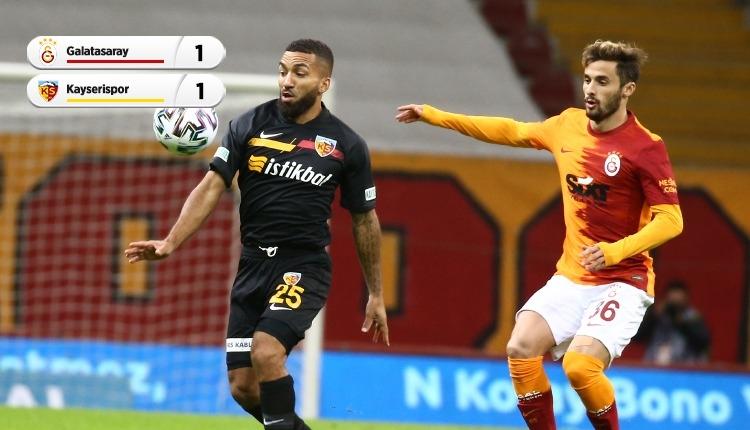 Galatasaray ile Kayserispor puanları paylaştı (İZLE)