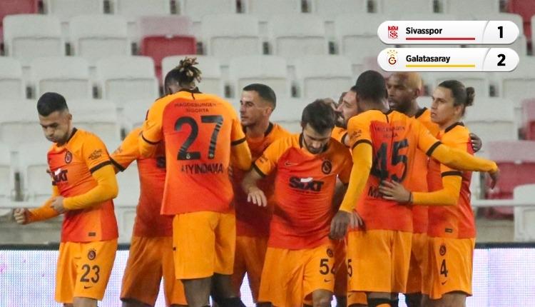 Galatasaray zorlu Sivas deplasmanında kazandı (İZLE)