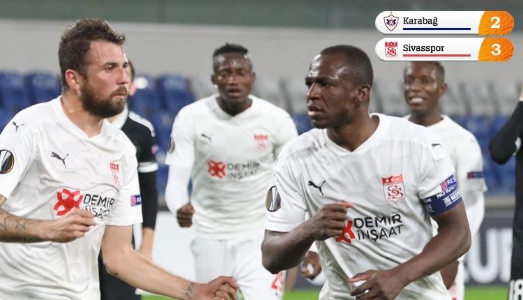 Karabağ 2-3 Sivasspor maç özeti ve golleri izle