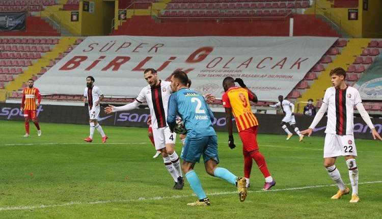 Kayserispor 0-0 Fatih Karagümrük maç özeti izle