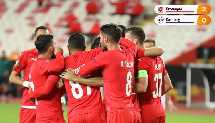 Sivasspor, Avrupa'da ilk galibiyetini Karabağ'dan aldı (İZLE)