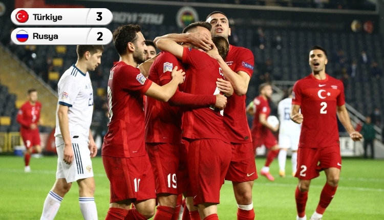Türkiye 3-2 Rusya maç özeti ve golleri