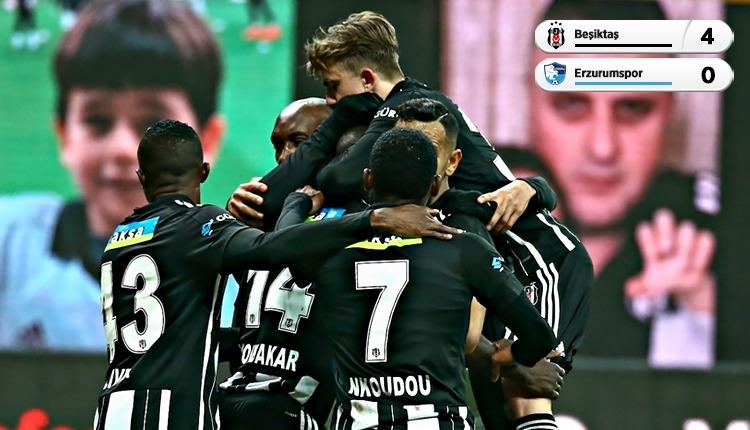 Beşiktaş, Erzurumspor'a 12 dakikada attığı 4 golle kazandı (İZLE)