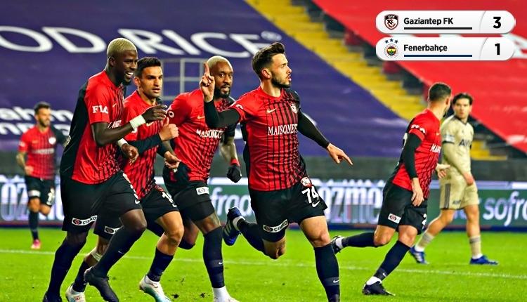 Gaziantep FK 3-1 Fenerbahçe maç özeti ve golleri (İZLE)