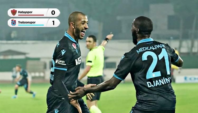 Hatayspor 0-1 Trabzonspor maç özeti ve golleri (İZLE)
