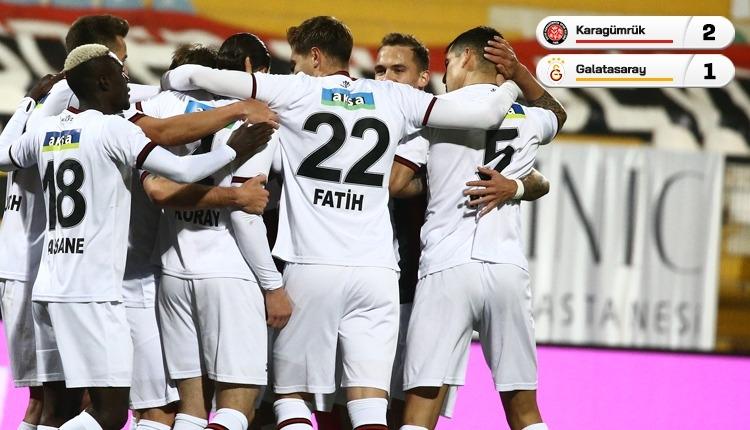 Karagümrük, Galatasaray'ı son dakika golüyle geçti (İZLE)