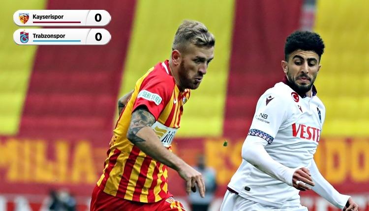 Gol sesi çıkmadı! Kayserispor 0-0 Trabzonspor maç özeti (İZLE)