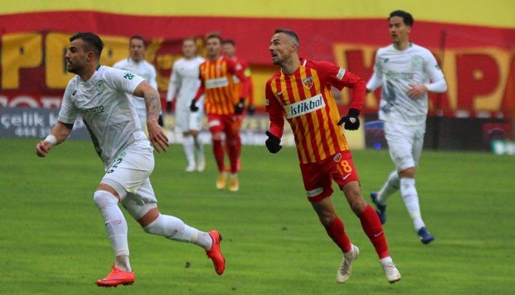 Kayserispor 1-2 Konyaspor maç özeti ve golleri (İZLE)