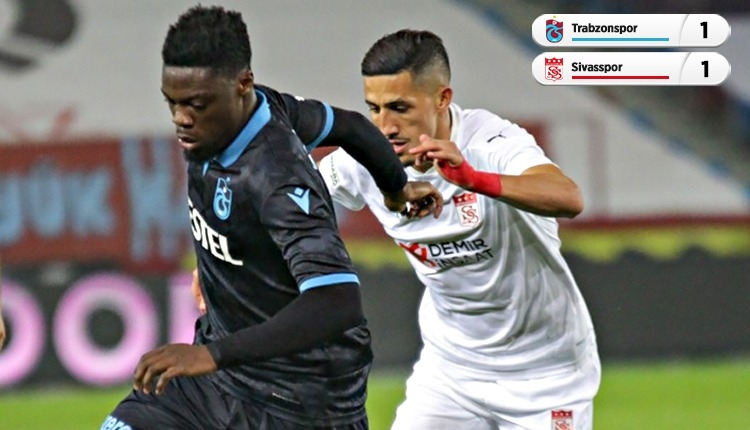 Trabzonspor 1-1 Sivasspor maç özeti ve golleri izle