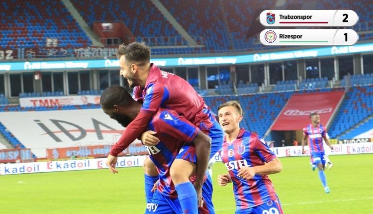 Trabzonspor 2-1 Rizespor maç özeti ve golleri (İZLE)