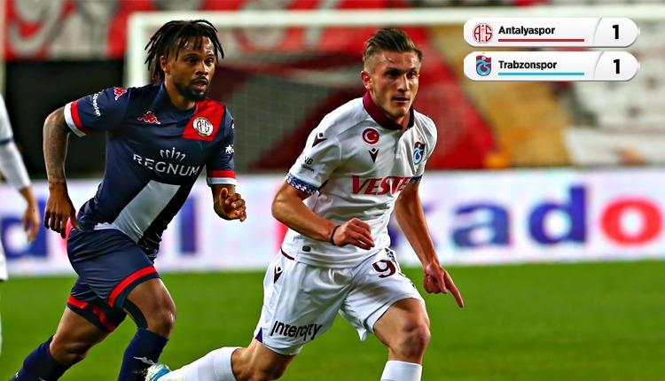 Antalyaspor 1-1 Trabzonspor maç özeti ve golleri (İZLE)