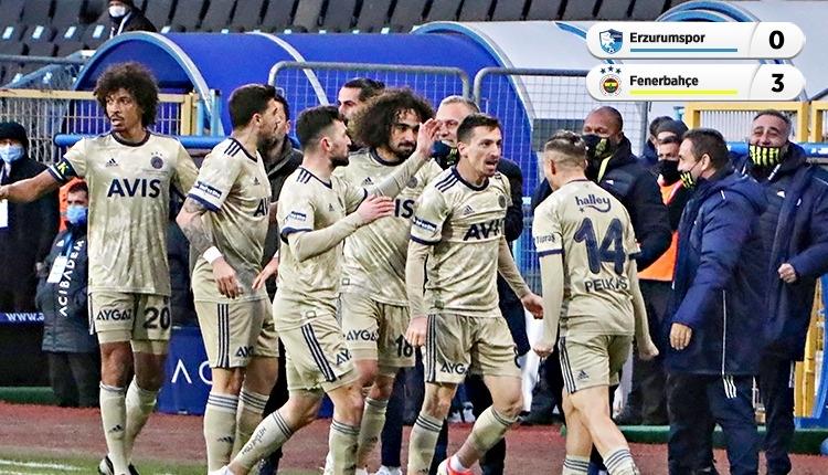 BB Erzurumspor 0-3 Fenerbahçe maç özeti ve golleri (İZLE)