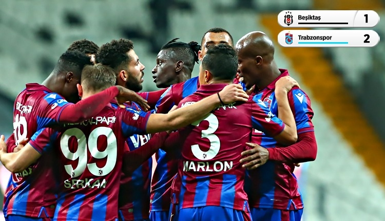Beşiktaş 1-2 Trabzonspor maç özeti ve golleri (İZLE)