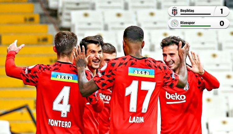 Beşiktaş çeyrek finalde! Beşiktaş 1-0 Rizespor maç özeti (İZLE)