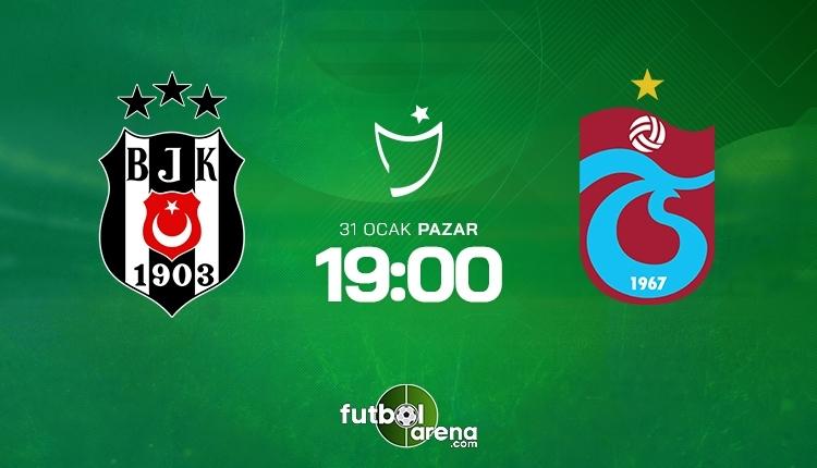Beşiktaş-Trabzonspor canlı izle, Beşiktaş-Trabzonspor şifresiz izle (Beşiktaş-Trabzonspor beIN Sports canlı ve şifresiz maç İZLE) 31 Ocak 2021
