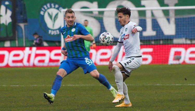Çaykur Rizespor 1-1 Denizlispor maç özeti ve golleri (İZLE)