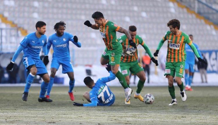 Erzurumspor 1-1 Alanyaspor maç özeti ve golleri (İZLE)