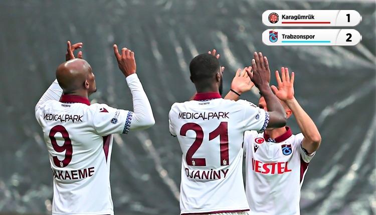 Fatih Karagümrük 1-2 Trabzonspor maç özeti ve golleri (İZLE)