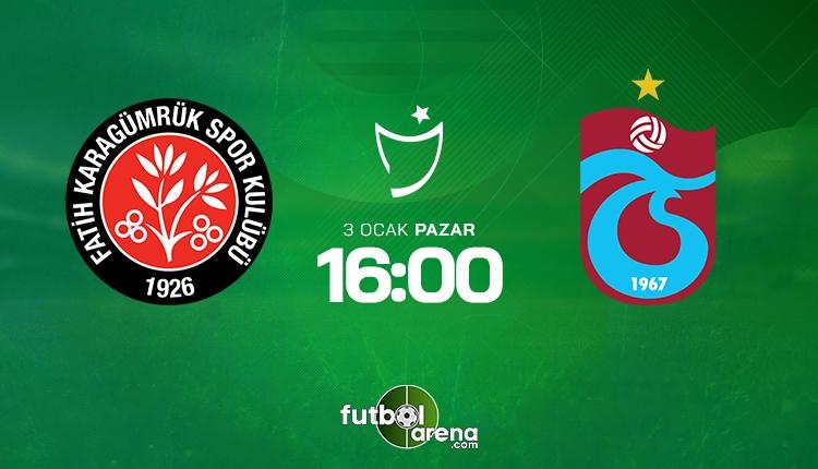 Fatih Karagümrük Trabzonspor canlı şifresiz izle - Karagümrük Trabzonspor beIN Sports şifresiz HD yayın