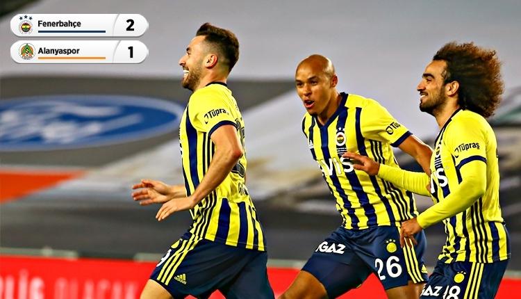 Fenerbahçe 2-1 Alanyaspor maç özeti ve golleri (İZLE)