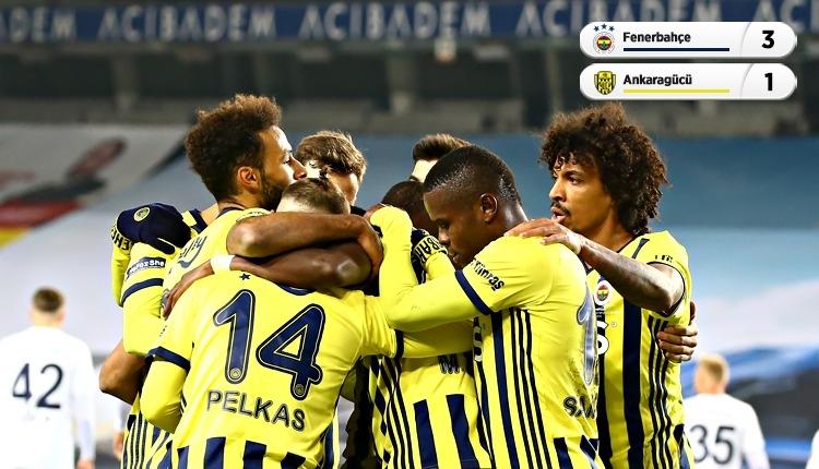 Fenerbahçe, Ankaragücü maçını rahat kazandı (İZLE)