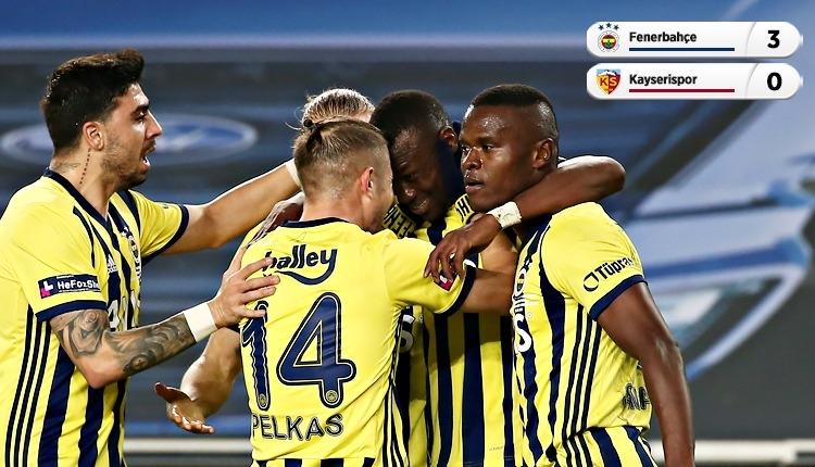 Fenerbahçe, Kadıköy'de Kayserispor engelini geçti (İZLE)