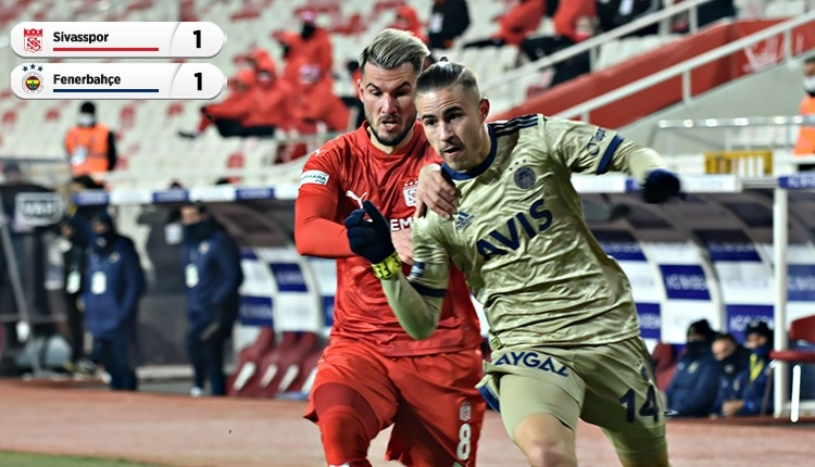 Fenerbahçe, Sivas deplasmanında 2 puan bıraktı (İZLE)