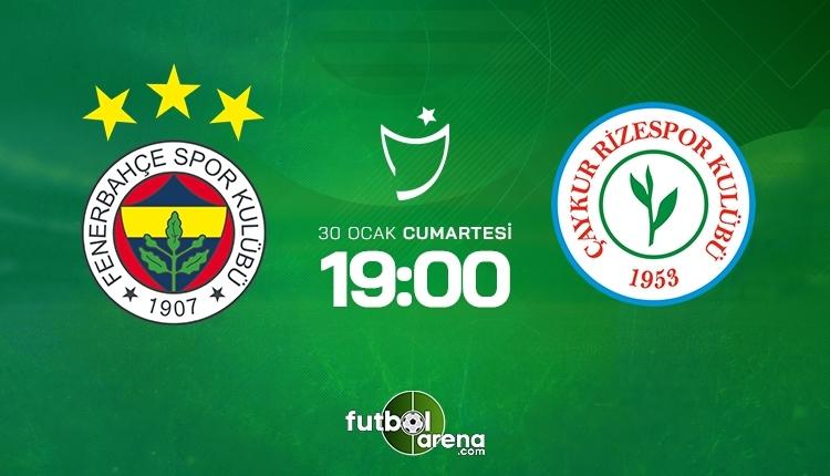 Fenerbahçe-Çaykur Rizespor canlı izle, Fenerbahçe-Çaykur Rizespor şifresiz İZLE (Fenerbahçe-Çaykur Rizespor beIN Sports canlı ve şifresiz İZLE)