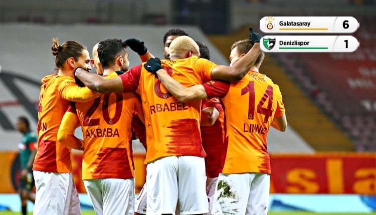 Galatasaray 6-1 Denizlispor maç özeti ve golleri (İZLE)